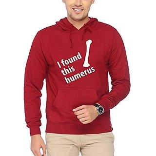 Campus Sutra Mens Printed Hoodie