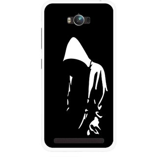 Snooky Printed Thinking Man Mobile Back Cover For Asus Zenfone Max - Multicolour