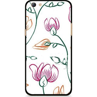Snooky Printed Flower Sketch Mobile Back Cover For Oppo F3 plus - Multi