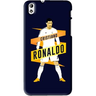 Snooky Printed Ronaldo Mobile Back Cover For HTC Desire 816 - Blue