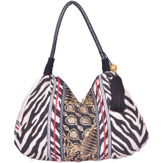 Black  White Shoulder Bag