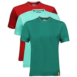 Campus Sutra Men Rib Neck T-Shirt Combo Of 3 Pack
