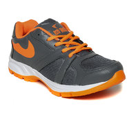 Rod Takes Orange And Gray Sports Shoes