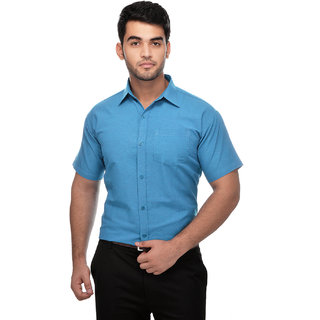 Gagan Enterprises Formal Blue Shirt