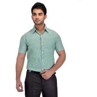 Gagan Enterprises Formal Green Shirt