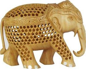 Wooden Elephant Jali 15cm