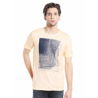 Killer Men's  Orange Printed T-shirt