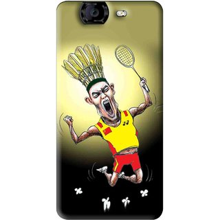 Snooky Printed Adivasi Sports Mobile Back Cover For Micromax Canvas A350 - Yellow