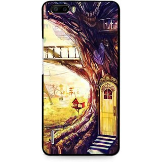 Snooky Printed Dream Home Mobile Back Cover For Huawei Honor 6 Plus - Multi