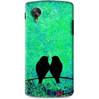 Snooky Printed Love Birds Mobile Back Cover For Lg G5 - Green