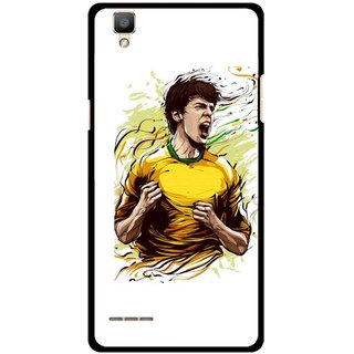 Snooky Printed I Win Mobile Back Cover For Oppo F1 - Multi
