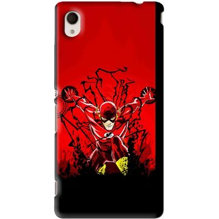 Snooky Printed Super Hero Mobile Back Cover For Sony Xperia M4 - Black