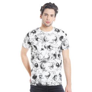 Killer Men's  White Printed T-shirt