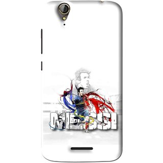 Snooky Printed Messi Mobile Back Cover For Acer Liquid Z630S - White