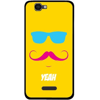 Snooky Printed Yeah Mobile Back Cover For Micromax Canvas 2 A120 - Multi