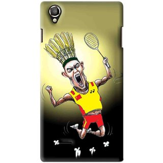 Snooky Printed Adivasi Sports Mobile Back Cover For Lava Iris 800 - Yellow