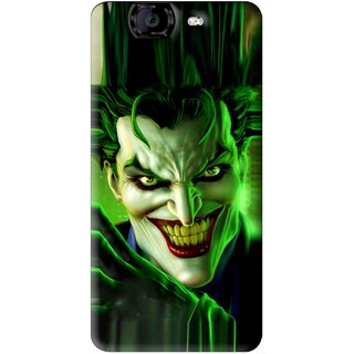 Snooky Printed Horror Wilian Mobile Back Cover For Micromax Canvas A350 - Green
