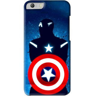 Snooky Printed America Sheild Mobile Back Cover For Micromax Canvas Knight 2 E471 - Blue