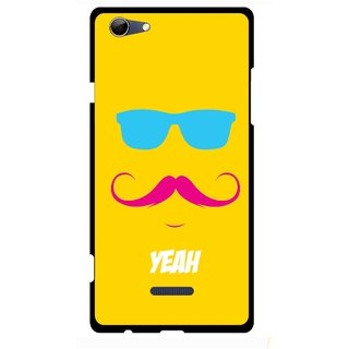 Snooky Printed Yeah Mobile Back Cover For Micromax Canvas Selfie 3 Q348 - Multi
