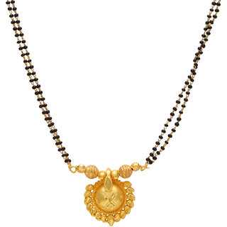 Memoir Gold Plated Gold Alloy Only Mangalsutra for Women's