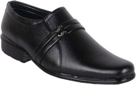 Woxer Men's Black Formal Slip On Shoe - 124002426