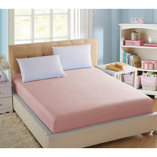 Pink terry fitted sheet