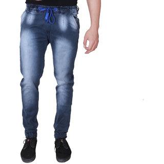6f9dc3df0f3 Villain Denim Joggers for Men - Elastic Jogger Pants for Boys - Fashionable  Denim Pants - Grey