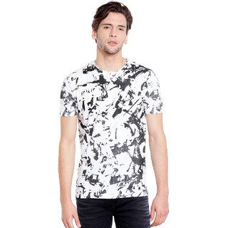Killer Men's  White Solid T-shirt