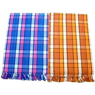 BcH Cotton Bath Towel Set Of 2, Multicolor