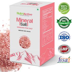 NutroActive Mineral Salt (HIMALAYAN PINK SALT) Sugar Size Grain (1-2 mm) - 350 gm