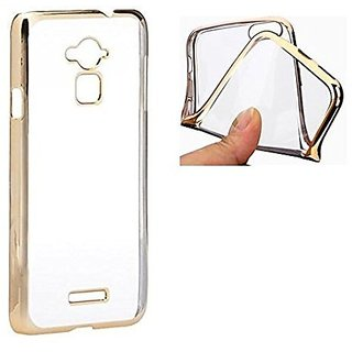 Coolpad Note 3 / Coolpad Note 3 Plus Golden Border Soft TPU Ultra Thin 0.3mm Clear Transparent Flexible Slim Back Case Cover For Coolpad Note 3 / Coolpad Note 3 Plus - Hot Gold