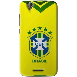 Snooky Printed Brasil Mobile Back Cover For Acer Liquid Z630S - Yellow
