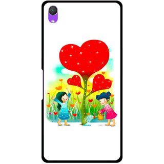 Snooky Printed Heart Plant Mobile Back Cover For Sony Xperia Z2 - Multi