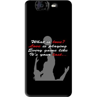Snooky Printed Game Lover Mobile Back Cover For Micromax Canvas A350 - Black