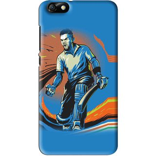 Snooky Printed I M Best Mobile Back Cover For Huawei Honor 4X - Blues