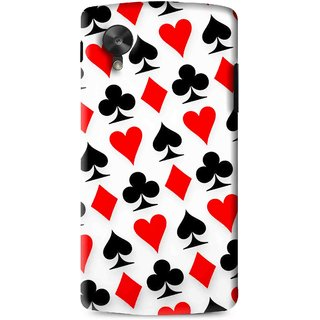 Snooky Printed Playing Cards Mobile Back Cover For Lg G5 - Multi