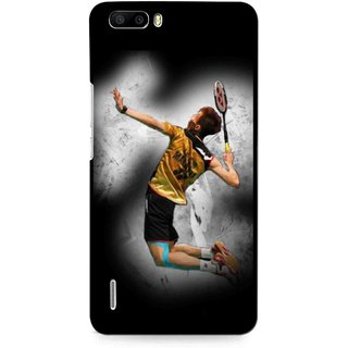 Snooky Printed Badminton Mania Mobile Back Cover For Huawei Honor 6 Plus - Multi