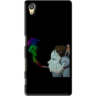 Snooky Printed Color Of Smoke Mobile Back Cover For Sony Xperia Z5 - Black