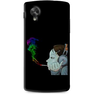 Snooky Printed Color Of Smoke Mobile Back Cover For Lg G5 - Black