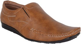 Woxer Men's Tan Formal Slip On Shoe