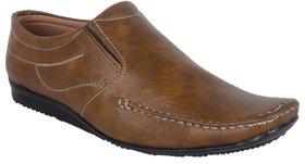Woxer Men's Tan Formal Slip On Shoe