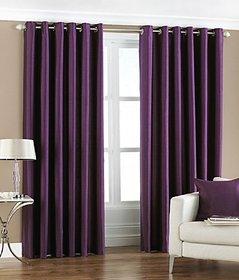 Trendz Home Furnishing Crush Plain Single Door Curtain