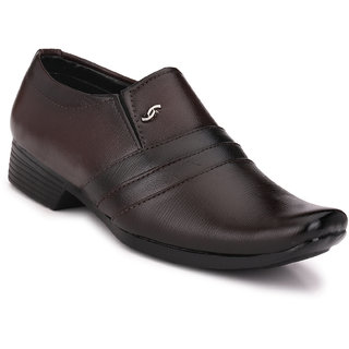 Woxer Men's Brown Formal Slip On Shoe