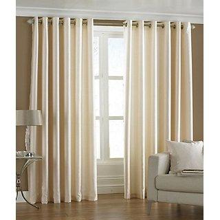 Trendz Home Furnishing Crush Plain Single Window Curtain
