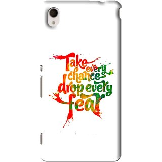 Snooky Printed Drop Fear Mobile Back Cover For Sony Xperia M4 - White