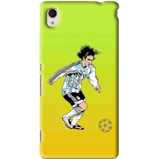 Snooky Printed Focus Ball Mobile Back Cover For Sony Xperia M4 - Multi