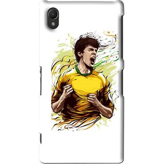 Snooky Printed I Win Mobile Back Cover For Sony Xperia Z2 - White