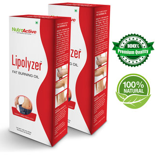 Nutroactive Lipolyzer Fat Burning Oil (275 Ml) Slimng Oil For Body  eight Loss Product pack of 2