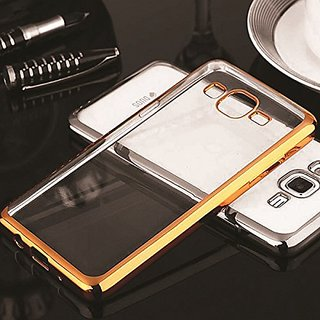 Samsung Galaxy On5 Pro  Electroplated Edge TPU Thin Flexible Back Case Cover - Golden