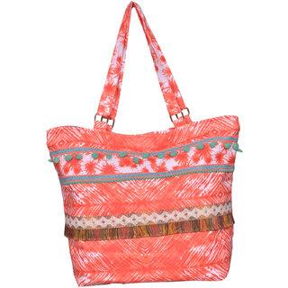 Peach  Orange Hand Bag